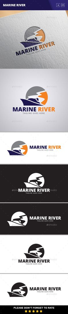 Marine River - Logo Design Template Vector #logotype Download it here: http://graphicriver.net/item/marine-river-logo-template/11024828?s_rank=1036?ref=nexion
