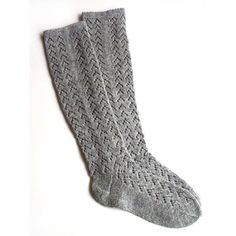 Women's Knitted Lambswool Knee-High Lace socks/stockings/gray/natural... ($27) ❤ liked on Polyvore featuring intimates, hosiery, socks, accessories, shoes, boots, black, boot socks & cuffs, women's clothing and short socks
