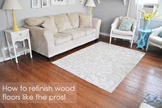 Classy Clutter: Refinishing wood floors part 2 and the Reveal!