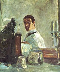 lautrec paintings | Self-portrait in front of a mirror