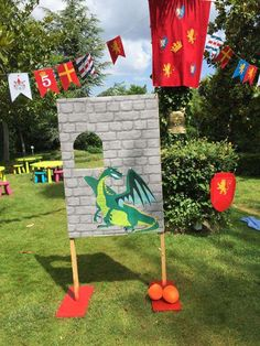 Medieval knights birthday party decorations! See more party planning ideas at CatchMyParty.com!