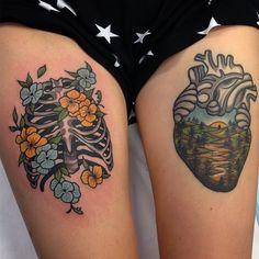 wainktattoo:  #tattoos  by Aaron Ashworth @aj_tattoo  Right is healed, left is fresh! (at WA Ink Tattoo)