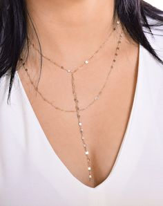 Jaclyn Hill Necklace, Lariat, Y Necklace,  Double Wrap Necklace,Gold Layered Necklaces,Gold Layered Chains, Double Chain, Body Chain, Choker