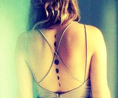 I love moon tattoos, so cool how all the phases are there