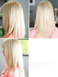 Platinum blonde highlight with a cool blonde lowlight