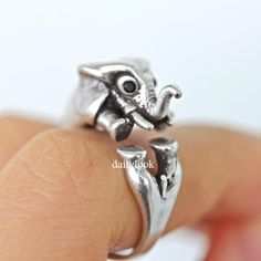 retro elephant ring, elephant ring, retro ring, man ring, vintage ring, adjustable ring, animal ring, wrap ring, cute ring, elephant by DailyLook on Etsy https://www.etsy.com/listing/213103493/retro-elephant-ring-elephant-ring-retro