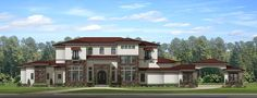 Spanish style homes – Mediterranean Home Decor Tuscan House Plans, Luxury House Plans, Best House Plans, Dream House Plans, House Floor Plans, Spanish Style Homes, Spanish House, Interior Columns, Interior Design