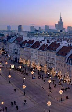 Krakowskie Przedmieście - Street in Warsaw, Poland