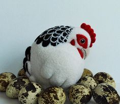 Thursday Handmade Love Week 98 ~ Chicken by Susan Dougill on Etsy