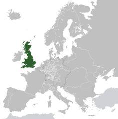 Localização de Grã-Bretanha