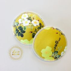 Luxe Floral Mustard - 1 x Pair Nursing Pads, Breastfeeding, Baby Shower Gifts, Floral, Baby Feeding, Shower Gifts, Breast Feeding, Baby Shower Ideas, Flowers