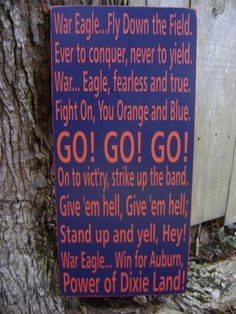 Auburn Fight Song Subway Style Sign Auburn by KPATTONDESIGNS