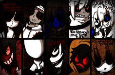 Creepypasta Characters and Phrases