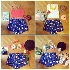 Pantaloncini estivi blu a vita alta con elastico in vita e fantasia margherite.  Taglia S. Per qualsiasi informazione contattatemi tramite DIRECT o email. #outfit#shoponline#daisy#margherite#mylittlesunshine#blue#shop#outfit#swimwear#beachwear#bow#bikini#fujifilm#flower#fantasy#color#marieclaire#elle#girlonline#fashion#style#yellow#pink#top#pants#costumedabagno #pellicersofia