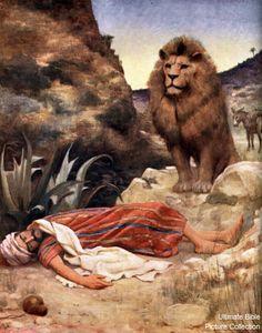 Disobedient prophet - 1 Kings 13:11 Bible Quiz, Bible Pictures, Biblical Art, Lord Is My Shepherd, Bible For Kids, Art Base, Old Testament, Bible Stories, Bible Art