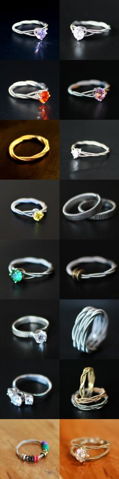 Check out these unique guitar string rings at dremeworks.etsy.com!