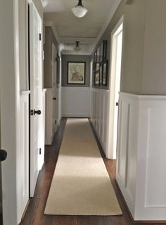Upstairs hallway - sage green