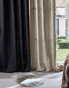 Rideaux en lin à œillets, Cyrillus - Linge de maison : notre sélection spécial lin - Elle Décoration