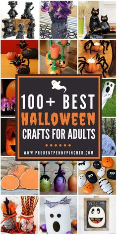 100 Best Halloween Crafts for Adults - #Halloween #HalloweenCrafts #Crafts #DIY #HalloweenDecorIdeas #HomeDecor