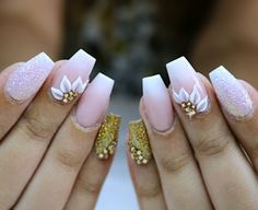 baby boomer wedding nails #weddingnails #babyboomernails