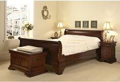 Bed, mahogany