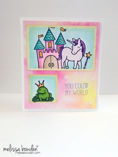 Lawn Fawn - Critters Ever After, Starry Backdrops _ beautiful card by Melissa via Flickr - Photo Sharing!