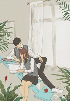 Read Couple (art) from the story stock gallery by -rkfawnn (rukychi) with reads. Cute Couple Drawings, Cute Couple Art, Anime Love Couple, Cute Anime Couples, Cute Drawings, Couple Cartoon, Art Anime, Anime Art Girl, Couple Illustration