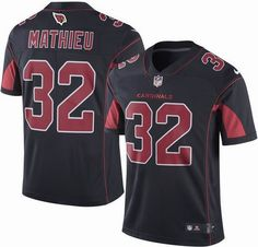 NFL Arizona Cardinals 2016 Rush New Style Cheap Mens #32 Tyrann Mathieu Black Football Limited Jerseys