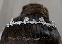 Trinity knot & shamrock tiara