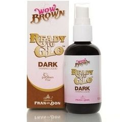 #WOWBROWN #NEWS  You'll now find #ReadyToGlo tan is newly packaged #ReadyToGloDARK  Created by the Queens of all things Wow & Brown, Fran & Don designed this perfectly formulated tanning liquid for gals who want the darkest shade of WOW!   So don't be fooled by its petite frame, as this cleaver #product gives you the darkest, deepest shade of #WowBrown over and over again ...7-10 full bodies to be exact HappyTanning Love Fran & Don xx  WOWBROWN.COM Beauty Treats, Fake Tan, Dark Shades, The Fool, Lotion, Brown, Bodies, Queens, Irish