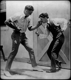 """Charlie Chaplin was an immense fan of boxing, he met many of the greats along the way. Here in 1919 with Heavyweight Jack Dempsey. Dempsey the champion from 1919-1926. Standing 6'1, 193 lbs he had a reach of 77 inches. """"He was a powerful and..."""