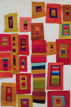Journey to Creative Art Quilting with Jean Wells Quilting Tutorials, Quilting Projects, Quilting Designs, Sewing Tutorials, Sewing Projects, Log Cabin Quilts, House Quilts, Contemporary Quilts, Quilt Modern