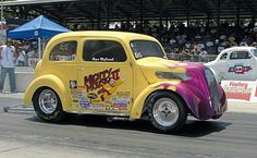 🖤💛Mighty Mouse II--luv this💗💛funny Ford Anglia, Mighty Mouse, Drag Cars, Road Racing, Car Car, Fast Cars, Mopar, Cars And Motorcycles, Muscle Cars