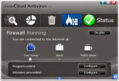 Panda CLoud Antivirus User Interface