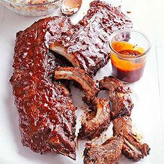 Kansas City Ribs Sweet and savory are the dream combo. Don't disappoint with ribs slathered in a spicy brown sugar rub and finished with a ketchup and molasses sauce.