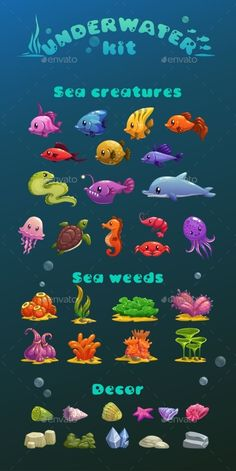 Cartoon Underwater Icons Set Vector EPS. Download here: https://graphicriver.net/item/cartoon-underwater-icons-set/15587655?ref=ksioks