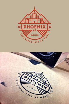 A prime example of a line art badge logo design. Gfx Design, Icon Design, Design Logos, City Branding, Logo Branding, Lego Logo, Creative Logo, Logo Montagne, Skyline Logo