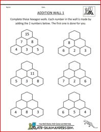 This page has a number of addition fact puzzles to help students practice basic facts.