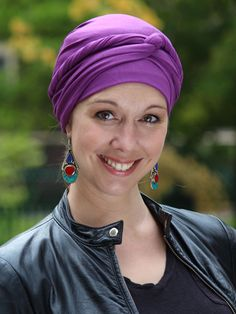 Color! Glamour! Comfort! Easy and soft beanie head wrap for chemo patients and women with alopecia.