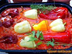 Stuffed Peppers, Vegetables, Ethnic Recipes, Food, Stuffed Pepper, Essen, Vegetable Recipes, Meals, Yemek