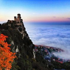 Castle in the sky situation in #SanMarino - Instagram by @DJ Yabis