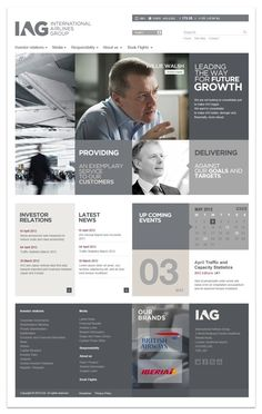 "IAG corporate website (2012) with ""Intermark Tecnologias"" in Web design"