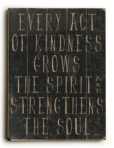 One Bella Casa 0402-4501-32 30 x 40 in. Every Act of Kindness Planked Wood Wall Decor by Lisa Weedn, As Shown