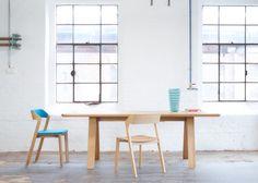 Buy online Stelvio By ton, rectangular solid wood table design Alexander Gufler 10 Seater Dining Table, Oak Dining Table, Dining Furniture, Dining Chairs, Wooden Furniture, Nordic Furniture, French Furniture, Furniture Plans, Wood Chair Design