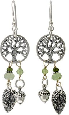 Tiny Tree of Life Silver Charm from Nina Designs® comes to life with silver acorn charms and leaf charms. Shop now!