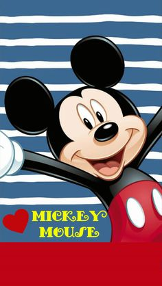 """""""I love all these blue and white stripes"""" Mickey Mouse Kunst, Minnie Mouse, Mickey Mouse Cartoon, Mickey Mouse And Friends, Mickey Mouse Wallpaper Iphone, Disney Wallpaper, Disney Images, Disney Pictures, Cute Disney"""