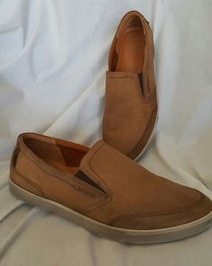Mens Ecco shoes sz 45 EUR 11 US Collin casual slip on loafer sneaker light brown   Clothing, Shoes & Accessories, Men's Shoes, Casual   eBay! SOLD