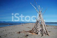 Driftwood Cairn, Motueka Spit, Tasman, NZ royalty-free stock photo Beach Photos, Image Now, Driftwood, Royalty Free Stock Photos, Beach Photography, Beach Pics, Drift Wood, Beach Shoot