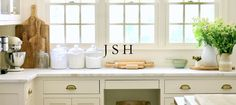 """Jenny Steffens Hobick: Our """"Classic"""" White Kitchen Design Interior Design Boards, Interior Paint, Scones, Classic White Kitchen, Easter Bunny Cake, Country Living Magazine, Marble Countertops, Spring Home, Home Projects"""