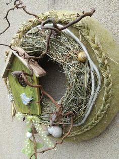 - Lilly is Love Bird Crafts, Wreath Crafts, Easter Garden, Carved Eggs, Butterfly Birthday, Summer Wreath, Creative Crafts, Grapevine Wreath, Floral Arrangements